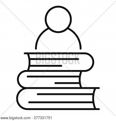 Storyteller Book Stack Icon. Outline Storyteller Book Stack Vector Icon For Web Design Isolated On W