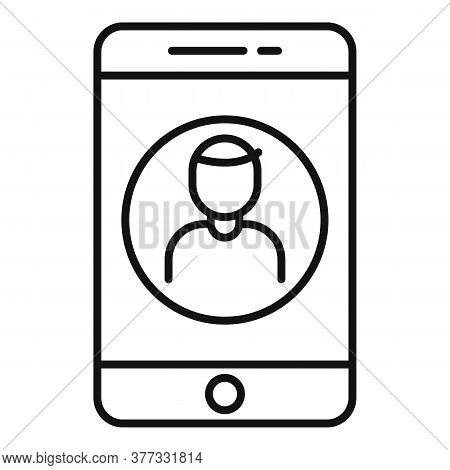Storyteller Smartphone Call Icon. Outline Storyteller Smartphone Call Vector Icon For Web Design Iso