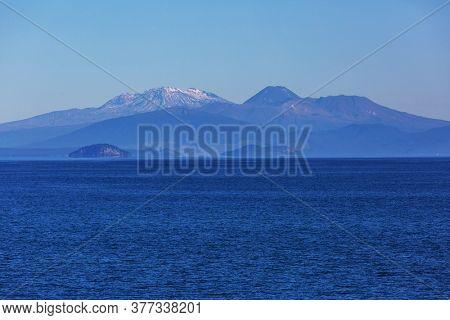 Beautiful Lake Taupo in New Zealand