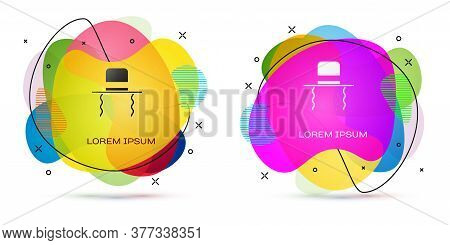 Color Orthodox Jewish Hat With Sidelocks Icon Isolated On White Background. Jewish Men In The Tradit