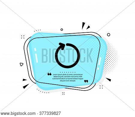 Loop Arrow Icon. Quote Speech Bubble. Refresh Arrowhead Symbol. Navigation Pointer Sign. Quotation M