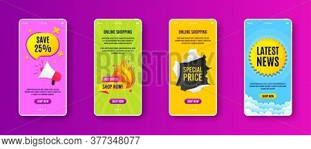 Hot Offer Sale Icon. Phone Screen Banner. Discount Banner Shape. Special Offer Icon. Sale Banner On