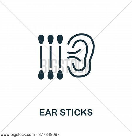 Ear Sticks Icon. Simple Element From Personal Hygiene Collection. Creative Ear Sticks Icon For Web D