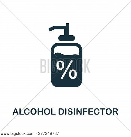 Alcohol Disinfector Icon. Simple Element From Personal Hygiene Collection. Creative Alcohol Disinfec