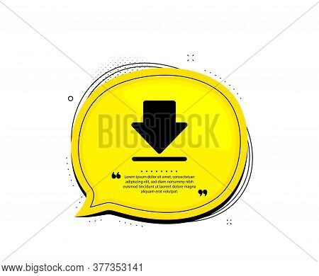 Download Icon. Quote Speech Bubble. Internet Downloading Sign. Load File Symbol. Quotation Marks. Cl