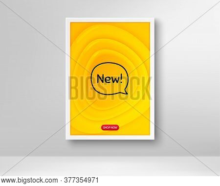 New Symbol. Frame With Orange Poster. Special Offer Sign. New Arrival. Fluid Gradient Shapes And Cha