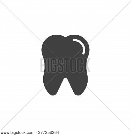 Healthy Tooth Vector Icon. Filled Flat Sign For Mobile Concept And Web Design. Dental, Tooth Glyph I