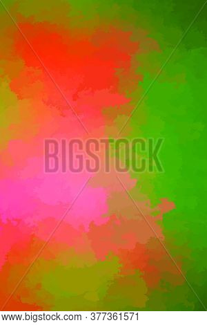 Abstract Modern Vector Background, Vertical Format. Digitally Generated Contemporary Wallpaper. Red