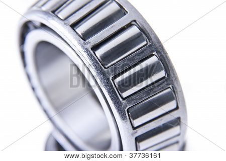 Close-up Of Steel Bearings