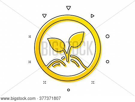 Idea Leaves Sign. Startup Icon. Launch Project Symbol. Yellow Circles Pattern. Classic Startup Icon.