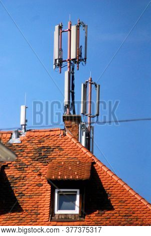 Mobile Phone Mast In The City