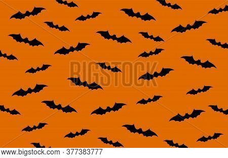 Seamless Background With Bats. Vector Illustration.. Bats Background