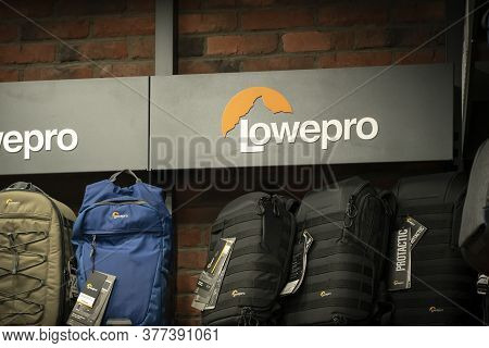 Krasnoyarsk, Russia, July 20, 2020: Lowepro-logo Of The Company Of Accessories For Bags And Backpack