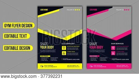 Fitness Center Flyer & Poster Cover Template. Fitness Flyer & Poster .