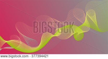 Wave Line Ribbon Advanced Background. Contemporary Vector Graphics With Bent Waves. Modern Bent Line