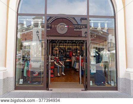Rome, Italy - July 28, 2015. Tommy Hilfiger Store In Rome, Italy. Tommy Hilfiger Is An American Fash