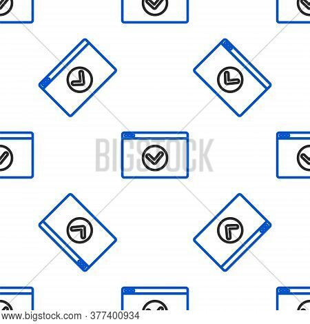 Line Secure Your Site With Https, Ssl Icon Isolated Seamless Pattern On White Background. Internet C