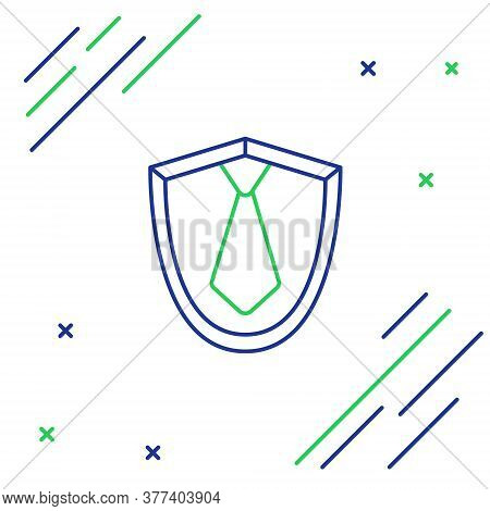 Line Tie Icon Isolated On White Background. Necktie And Neckcloth Symbol. Colorful Outline Concept.