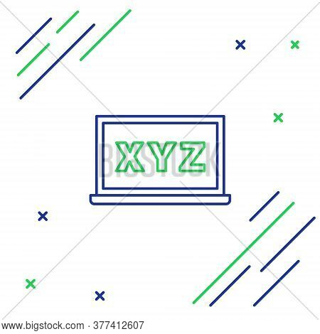 Line Xyz Coordinate System On Chalkboard Icon Isolated On White Background. Xyz Axis For Graph Stati