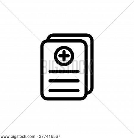 Illustration Vector Graphic Of Medical Record Icon Template