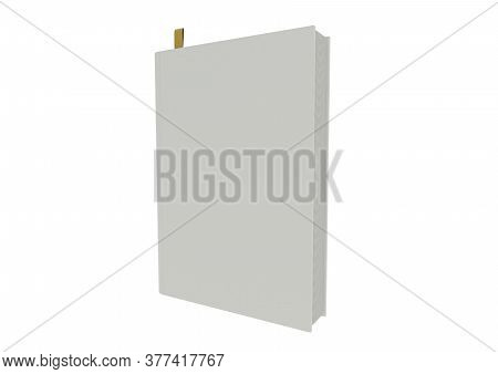 3d Of Blank Book Illustration On White Background