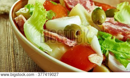 Palermo Sicilian-style Hot Sausage Salad - Insalata Alla Palermitana