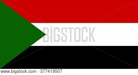 Sudan National Flag Graphics Design. Travel Backgrounds And Signs.
