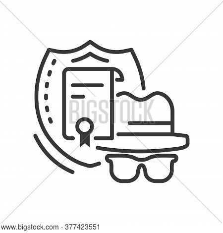 Confidentiality - Line Design Style Single Isolated Icon