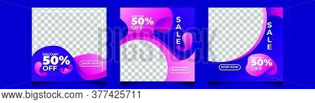Gradient Sale Instagram Post Purple Pink