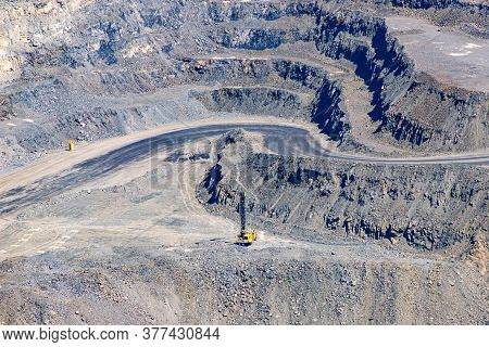 Crusher, In An Iron Ore Quarry Mining Industry. Mine And Quarry Equipment.