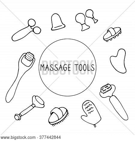 Massage Tools. Massagers For Face And Body. Equipment For Drainage, Skin Tightening Lifting And Heal