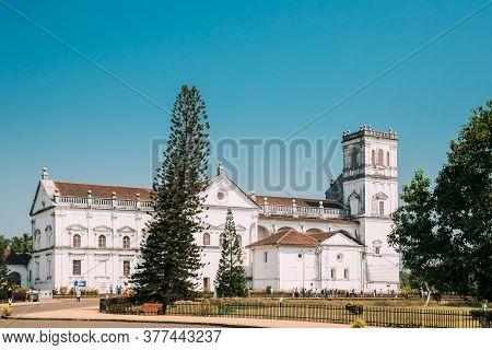 Old Goa, India. Se Catedral De Santa Catarina, Known As Se Cathedral. Latin Rite Roman Catholic Arch