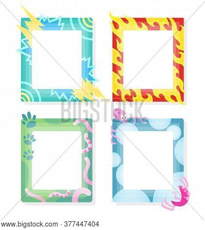 Comic Frames In Cartoon Style. Decorative Vector Frames Template. Scrapbooks Design Concept. Place T