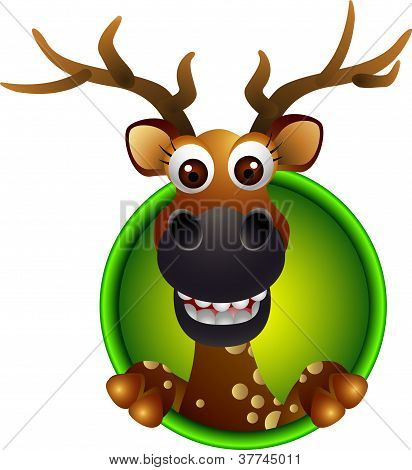 cute deer head cartoon