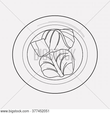 Romanian Sarma Icon Line Element. Vector Illustration Of Romanian Sarma Icon Line Isolated On Clean
