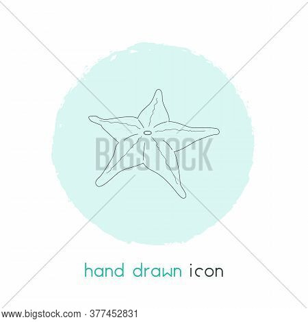 Starfish Icon Line Element. Vector Illustration Of Starfish Icon Line Isolated On Clean Background F