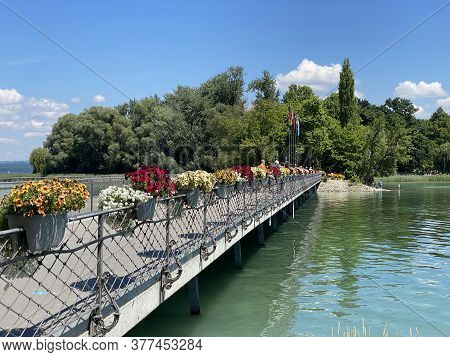 Landscape Of The Lake Constance By The Mainau Island (flower Island Mainau On The Lake Constance Or