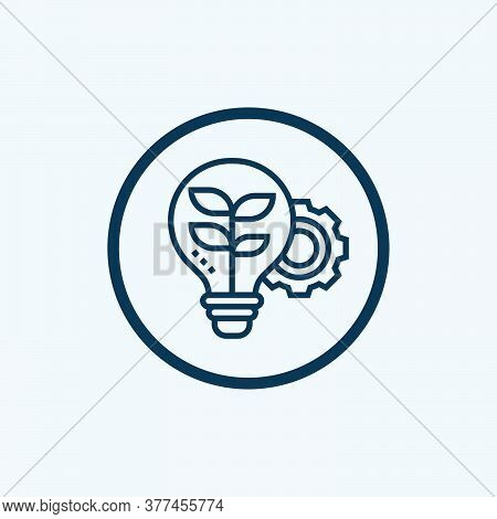 Idea Icon Isolated On White Background From Videoblogger Collection. Idea Icon Trendy And Modern Ide
