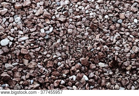 Contrast Stone Texture - Brown Stones Of Different Size And Shape