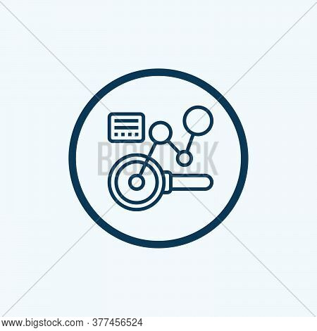 Data Analysis Icon Isolated On White Background From Job Resume Collection. Data Analysis Icon Trend