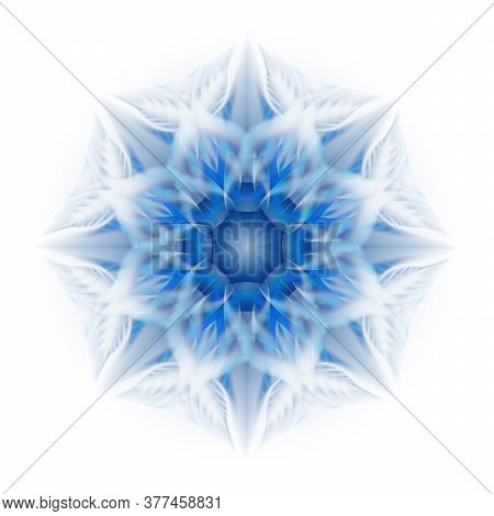 Beautiful Abstract Flower On A White Background. Soft Transitions Of Color And Shape.