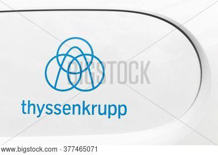 Villefranche, France - June 20, 20120: Thyssenkrupp Logo On A Car. Thyssenkrupp Is A German Multinat