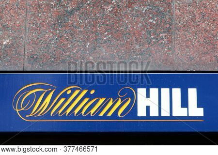 London, United Kingdom - September 25, 2019: William Hill Logo On A Wall. William Hill Is A Bookmake
