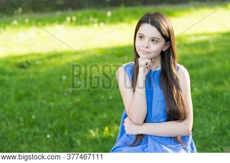 Salon Care For Every Haircare Need. Small Child Relax Summer Outdoors. Hair Salon. Little Girl With
