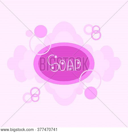 Vector Sketch Soap With Foam On A White Background