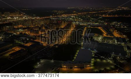 Moscow Oblast. Night Shooting Photos From A Quadrocopter