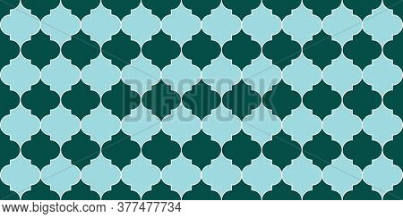Ramadan Traditional Mosque Golden Tile. Seamless Moroccan Pattern Eid Mubarak Islam Illustration. Ra