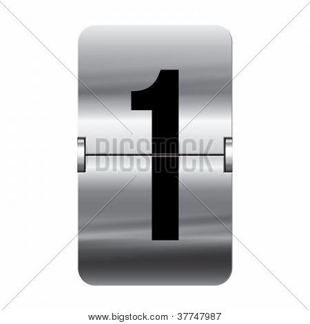 Silver Flipboard Letter - Departure Board - 1