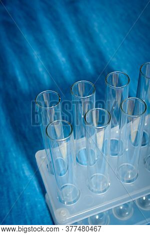 Medical Science Laboratory Glassware, Scientific Equipment For Researching In Medicine And Chemistry