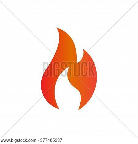 Fire Icon . Icon Of Fire Isolated On White Background. Red Flame Icon. Blazing Fire Icon. Fire Icon